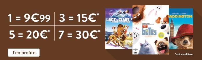 DVD Jeunesse: 3=15€ / 5=20€ / 7=30€