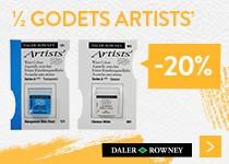 - 20% sur la peinture demi-godet artists daler rowney