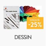 dessin et accessoires jusqu'à - 25%