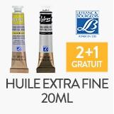 2 tubes d'huile extra fine 20ml lefranc&bourgeois, le 3ème offert