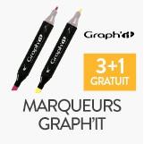 3 marqueurs graph'it achetés, le 4ème offert