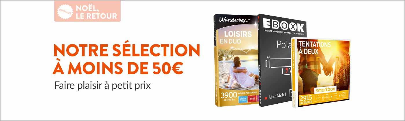 Notre sélection de coffrets cadeaux à moins de 50 euros