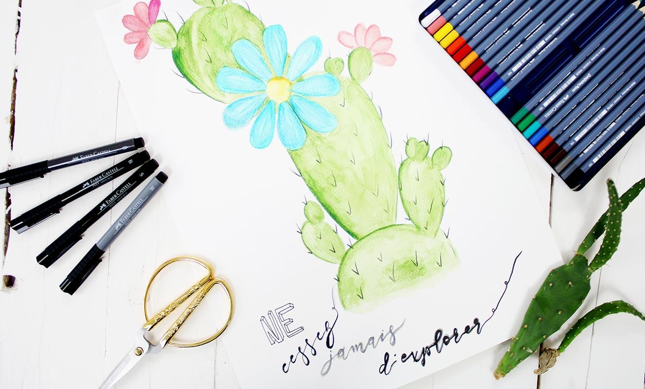 Cactus aquarelle
