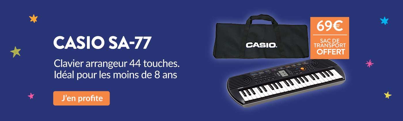 Promo clavier Casio SA-77