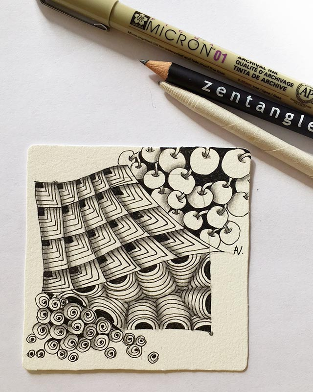 Technique du Zentangle