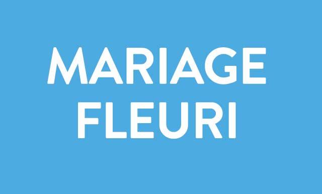 Mariage fleuri