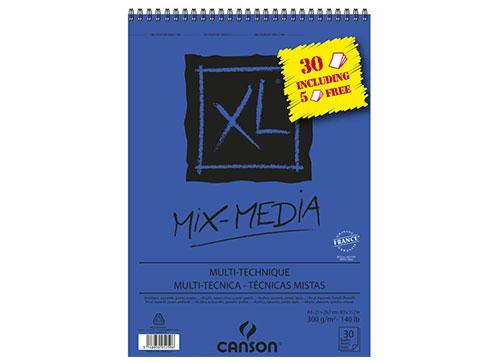 bloc feuilles mix media