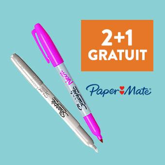 Marqueurs Sharpie 2+1 offert