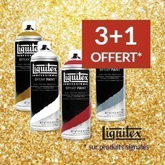 Promotion aérosols Liquitex