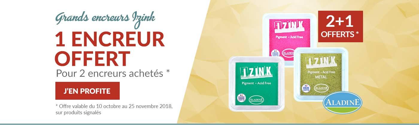 Promo sur encreurs IZINK