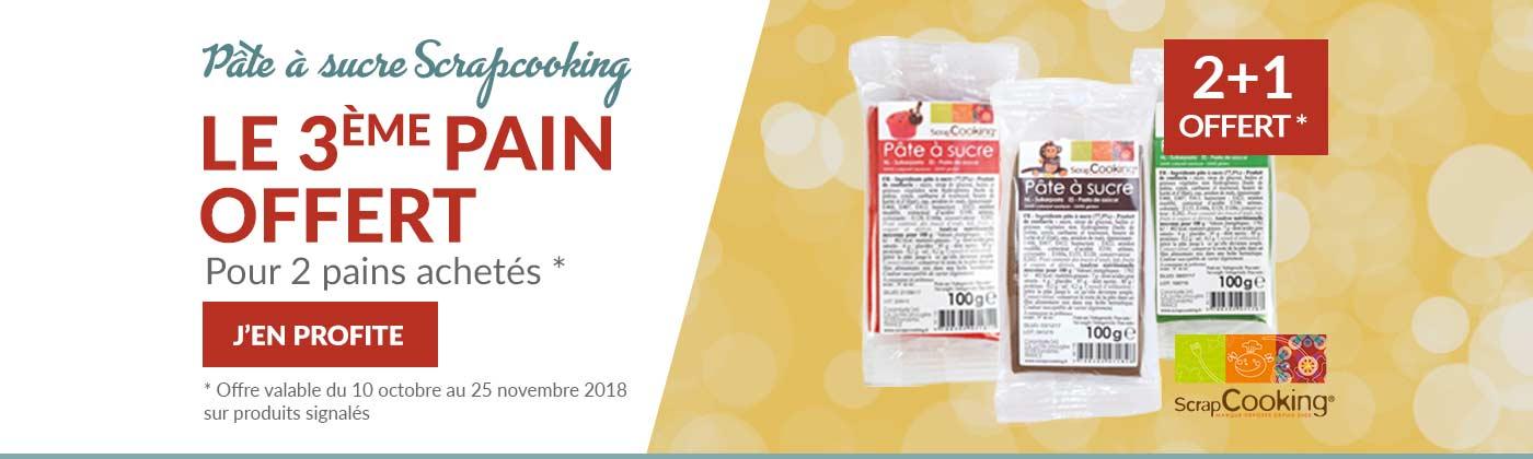 Pâte à sucre Scrapcooking en promo