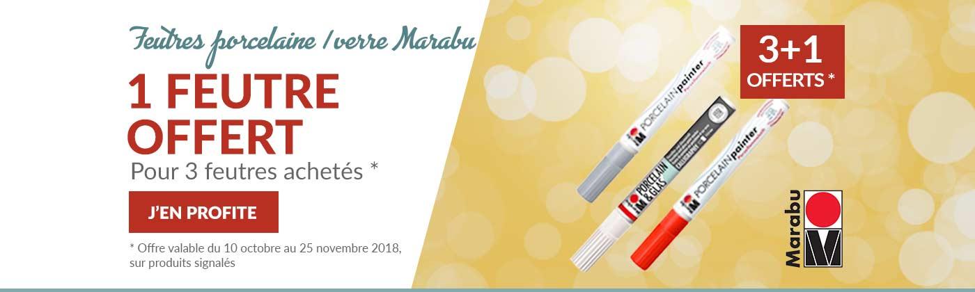 Feutres Marabu en promo