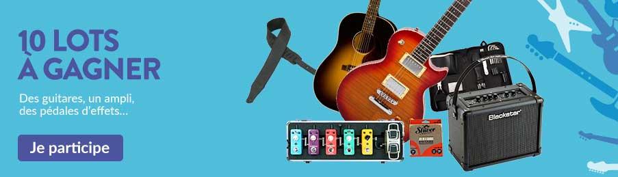 Gagnez des guitares et des accessoires