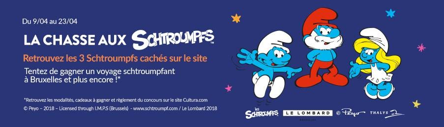 Les Schtroumpfs jeu concours Cultura