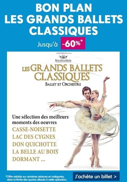 Bon plan jusqu'à -60% sur les spectacles des grands ballet