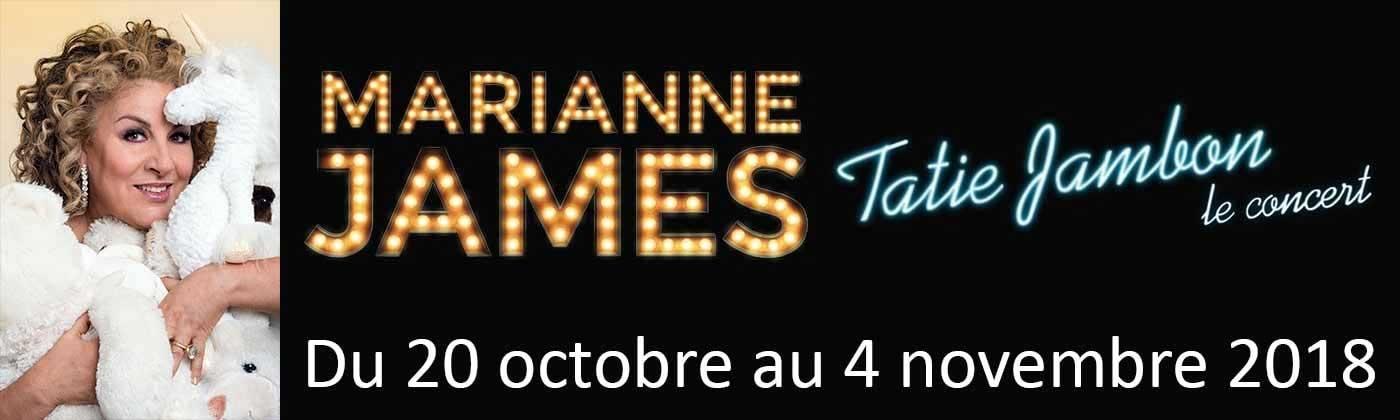 Concert de Marianne James du 20 octobre au 4 novembre 2018