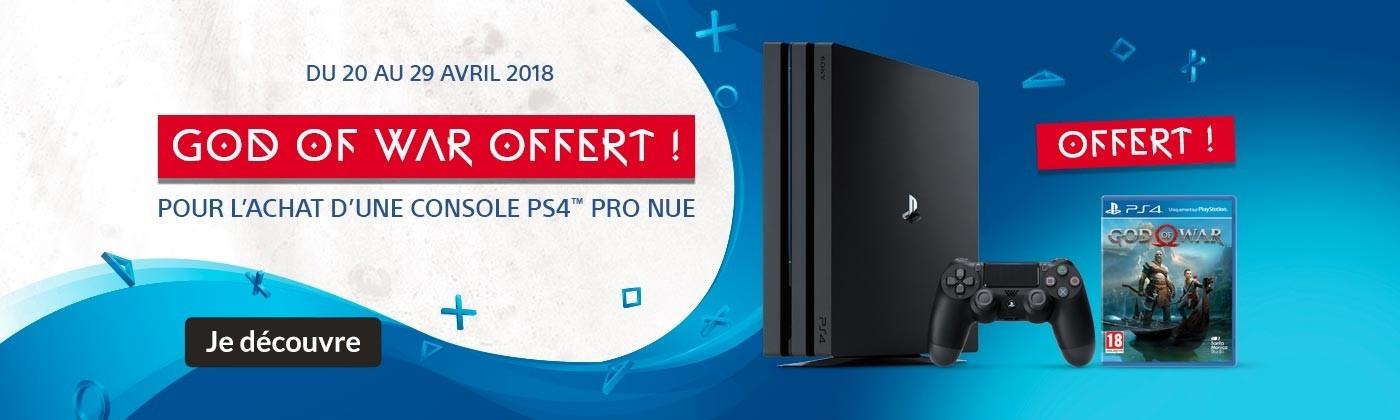PS4 PRO + God of War offert