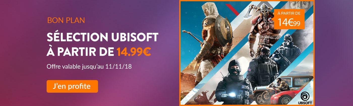 Jeux Ubisoft à partir de 14.99€