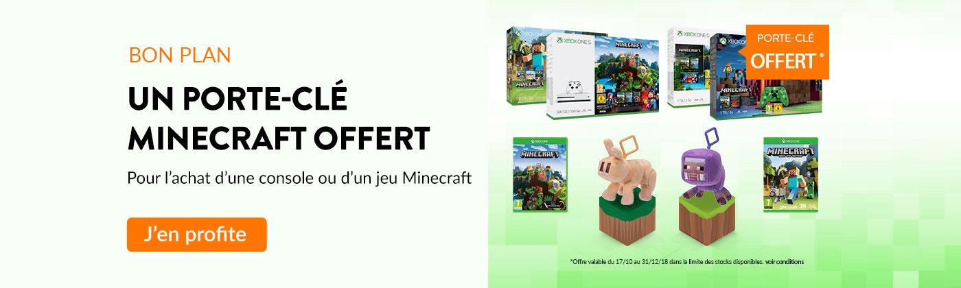 Un porte clé Minecraft offert
