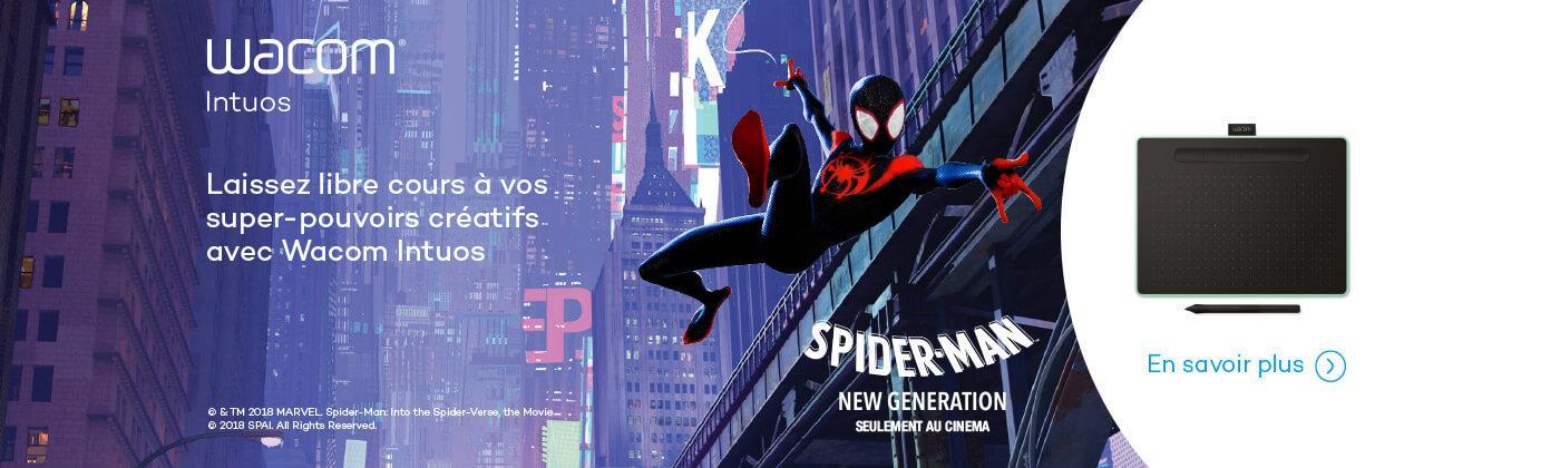 Tablette graphique Wacom intuos Spiderman