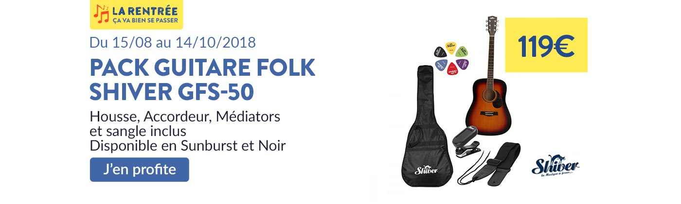 Pack guitare Folk Shiver