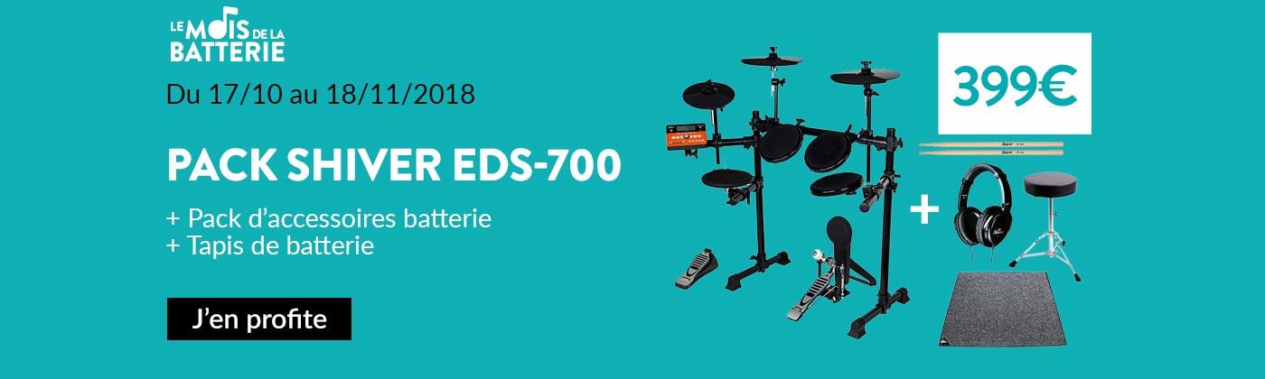 Promo batterie électronique Shiver EDS700
