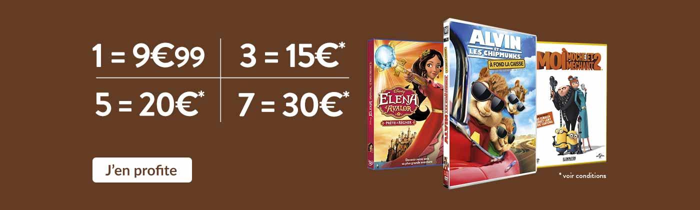 Jeunesse: 3=15€ / 5=20€ / 7=30€