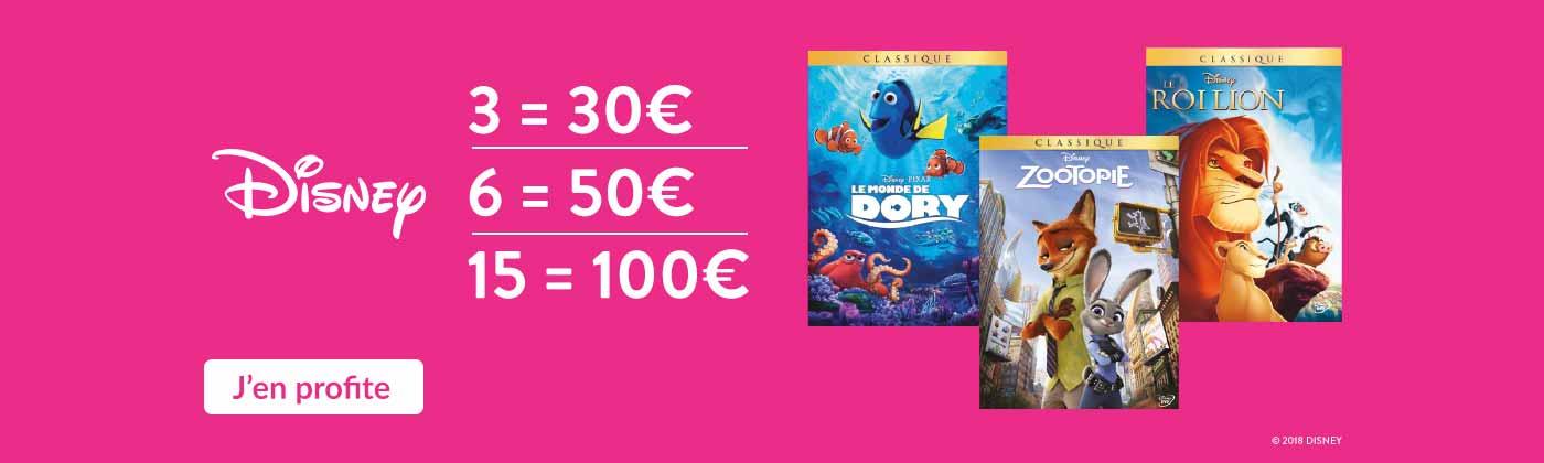 Bon Plan Disney : 3=30€ / 6=50€ / 15=100€